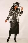 Leather Dress W/Rhinestone Jacket – L-505
