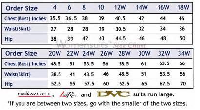 Donna-Vinci-Size-Chart